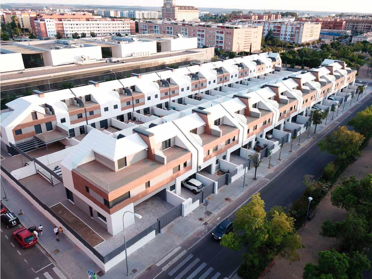 Cubierta de viviendas en Residencial Fuerteventura